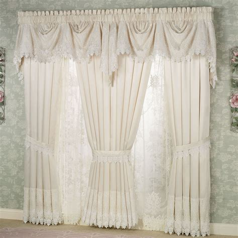 lacy curtains trousseau lace curtains