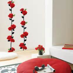 Poppy Wall Stickers black rose wall stickers wallstickery com
