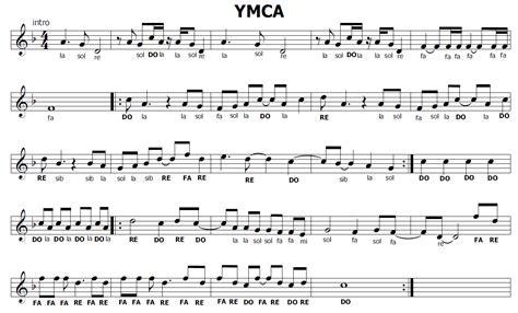 ymca testo musica e spartiti gratis per flauto dolce