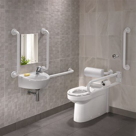 disabled bathrooms uk twyford doc m rimless btw wc pack with white grab rails