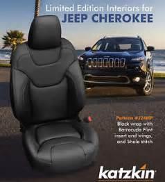 Car Seat Covers For Jeep Latitude 2014 2015 Jeep Latitude Black Katzkin Leather