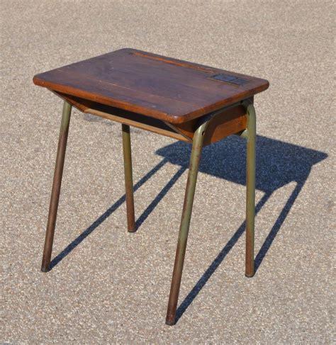 petit bureau ecolier mobilier vintage pour enfants chaises tables coffres 224
