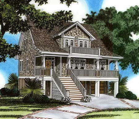 raised home plans raised house plan living