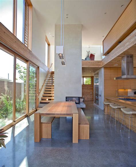 portland home interiors a sense of volume and for wood modern house in
