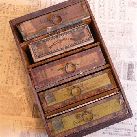 Cigar Box Drawers by Orchid Pear Crate With Cigar Boxes As Drawers So