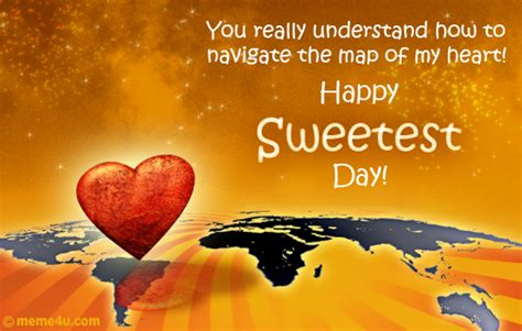 Sweetest Day Meme - map of my heart sweetest day romantic card