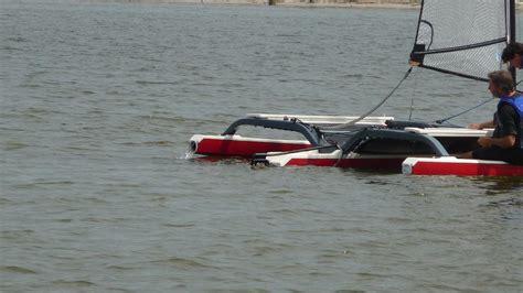 trimaran capsize ninja spider trimaran capsize test sailing videos
