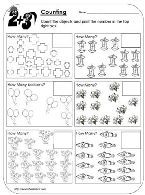 Counting 1 20 Worksheets by Count The Objects To 20 School Stuff The O