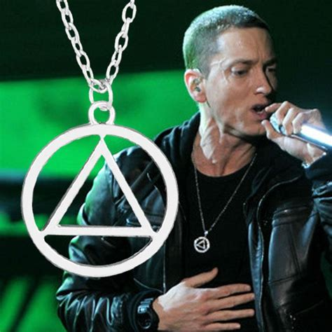 eminem illuminati necklace eminem eminem eminem s favorite high quality hang pendant
