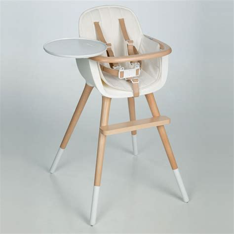 Ovo High Chair by Ovo Deluxe High Chair White No Cushion Micuna