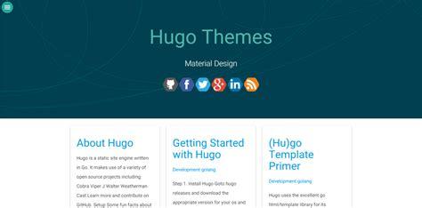 hugo website themes hugo themes material design