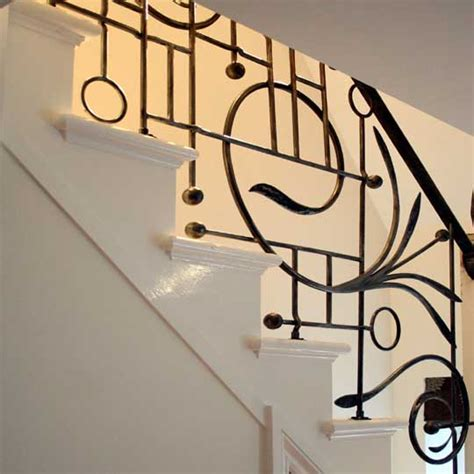 contemporary wrought iron stair balustrades