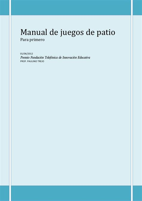 manual de juegos de patio