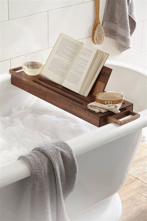 bathtub reading teak bathtub trays for reading with book holder ideas