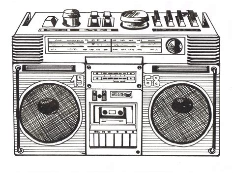 sketchbook radio black and white illustrations luloveshandmade