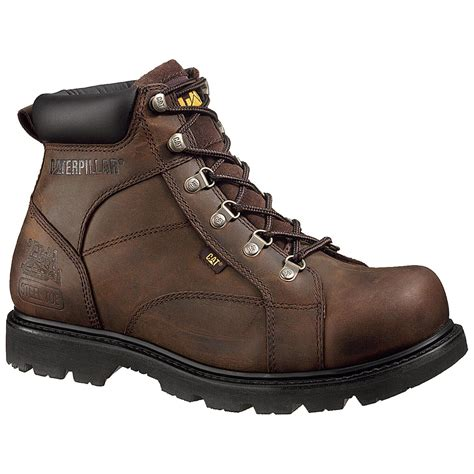 steel toe work boots cat mortar steel toe work boots 195503 work boots at