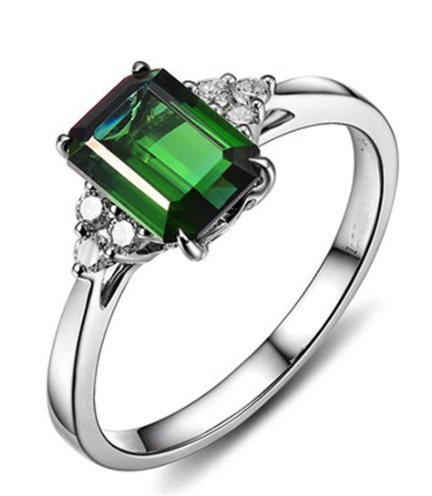 2 Carat Ring by 2 Carat Emerald And Engagement Ring In White Gold