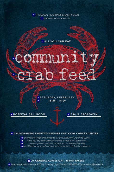 dinner poster crab dinner poster ticket printing