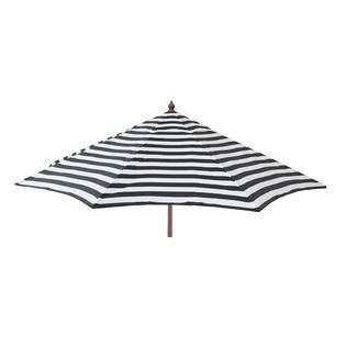 Destinationgear Euro 9 Ft Patio Umbrella Black And White Black And White Patio Umbrella