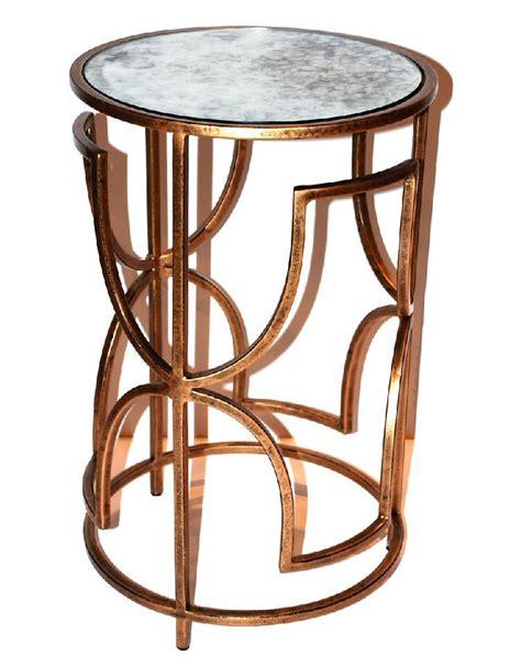 Quatrefoil Table L Antique Gold Quatrefoil Iron Table With Glass Top Dessau Home Me3032