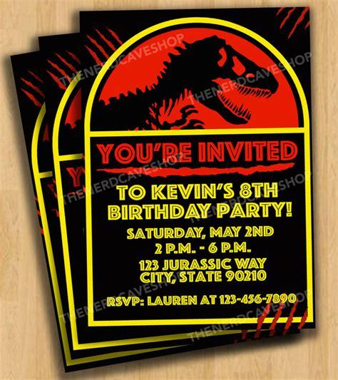 printable jurassic world birthday invitations jurassic world dinosaur birthday party invitations