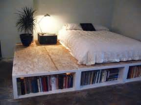 Platform Bed With Storage Ideas 15 Diy Platform Beds That Are Easy To Build Home And