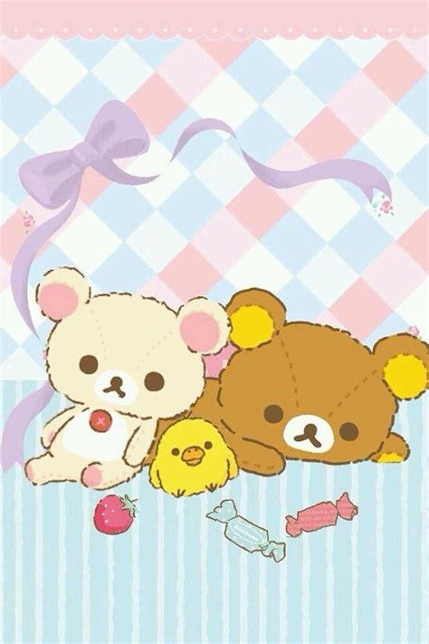 Rilakkuma And Korilakkuma Iphone All Hp iphone壁纸 萌物 可爱 背景 轻松熊 san x rilakkuma and