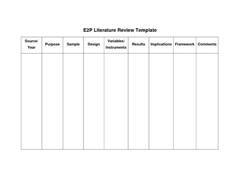 literature review template doc best photos of template of literature review apa