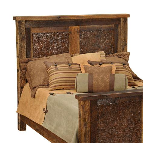 rustic headboards california king size barnwood copper