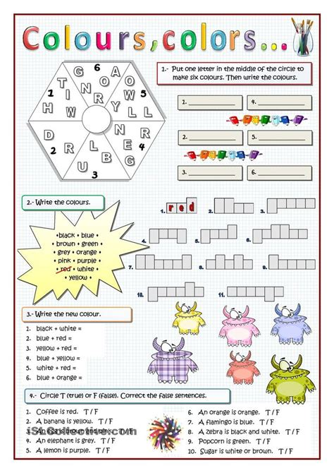 learning english is fun i see colours everywhere 1000 images about colours on pinterest worksheets go