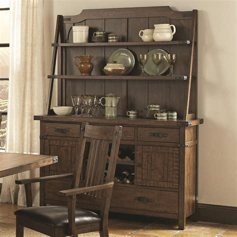dining room an enticing rustic hutch for dining room with glass coaster padima buffet and hutch in rustic cognac 105704 by