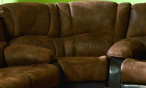 Brown Microfiber Sectional With Recliner Brown Specially Treated Microfiber Sectional W Recliner Seat
