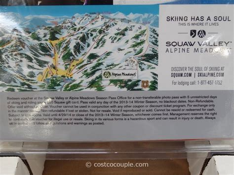 Costco Spafinder Gift Card - squaw valley alpine meadows gift card package