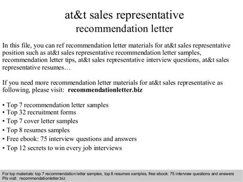 At And T Sales Representative Cover Letter by At T Sales Representative Recommendation Letter