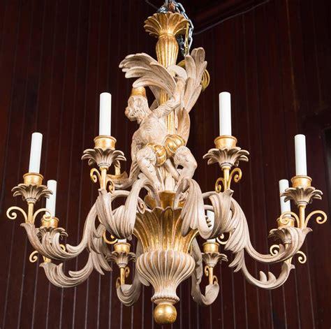 monkey chandelier italian carved wood monkey chandelier for sale at 1stdibs