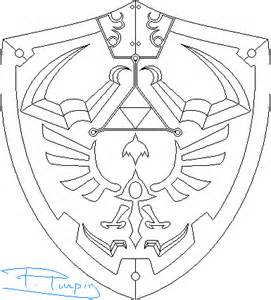 Hylian Shield Outline by Legend Of Hylian Shield Drawing Sketch Coloring Page