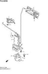 Suzuki Aerio Parts Diagram Back Door Lock For Suzuki Aerio Rb21s 2003 2011