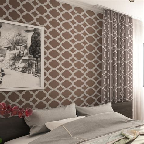 Wall Pattern Sheets   wall stencil moroccan tiles pattern set 2 sheets for