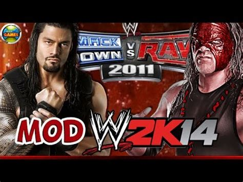 how to mod in wwe the game wwe roman reigns vs kane svr 2011 mod 2k14 ps2 youtube