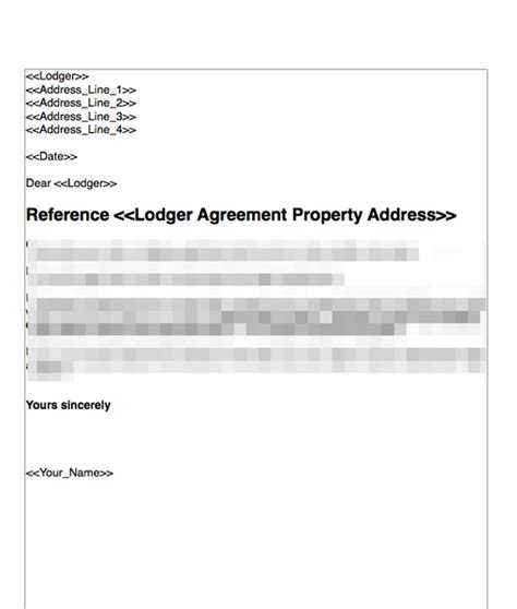 Terminate A Lodger Agreement No Fault Nor Breach Grl Landlord Association Lodger Eviction Letter Template
