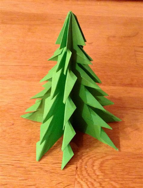 christmas tree paper folding origami trees writermummy