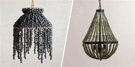 beaded chandelier beaded chandelier wooden bead chandelier craftbnb