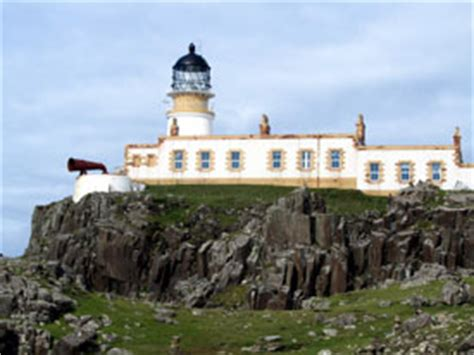 neist point lighthouse on the isle of skye in scotland