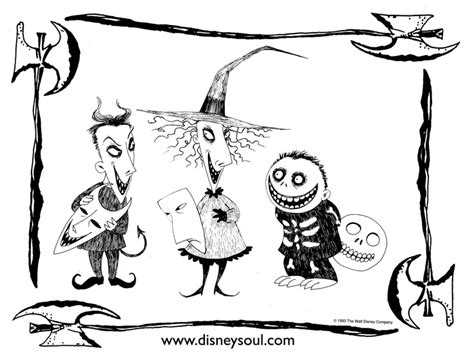 Nightmare Before Christmas Coloring Pages Autumn Pinterest Disney Nightmare Before Coloring Pages