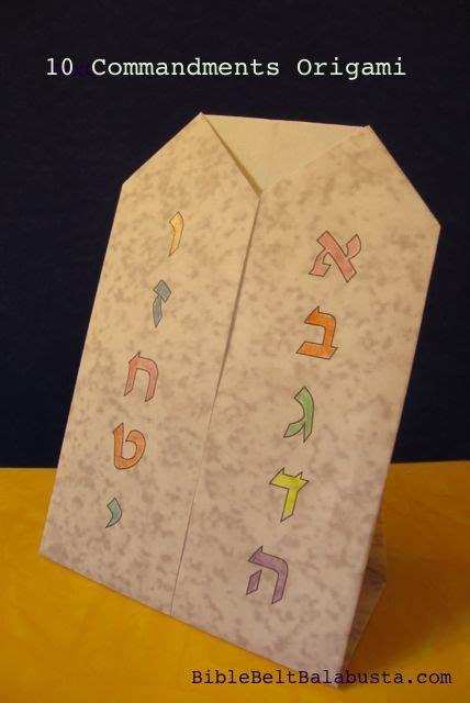 ten commandments for crafts shavuot origami for ten commandments printable