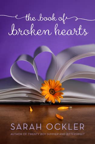 the hearts of a novel books the book of broken hearts by ockler reviews