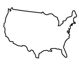 America Outline by State Outlines Clip Cliparts Co
