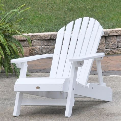 White Patio Chair Highwood Hamilton Folding And Reclining Adirondack Chair Size White Patio