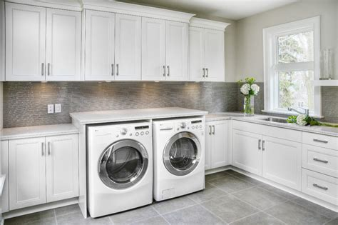 modern laundry room ideas with custom enclosures utility