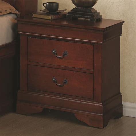coaster 200432r brown wood nightstand a sofa